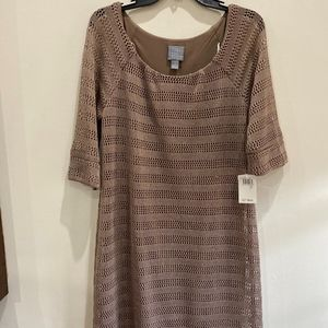 Rabbit Rabbit Rabbit Dresses - tan crochet dress